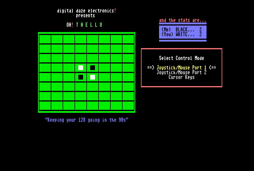 commodore software - OH! Thello 128