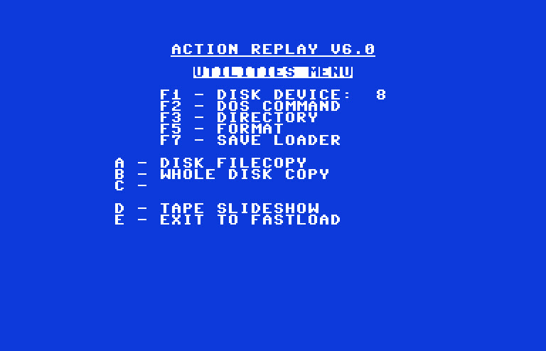 commodore software - Action Replay v6 0