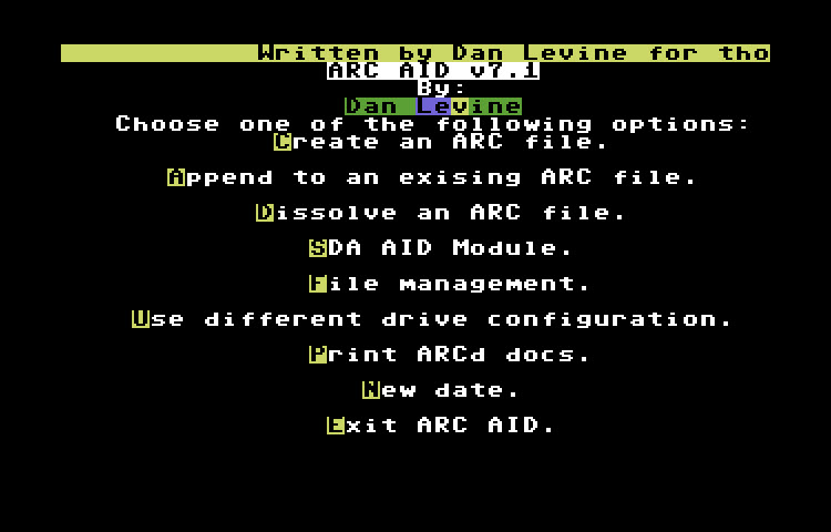 commodore software - Arc