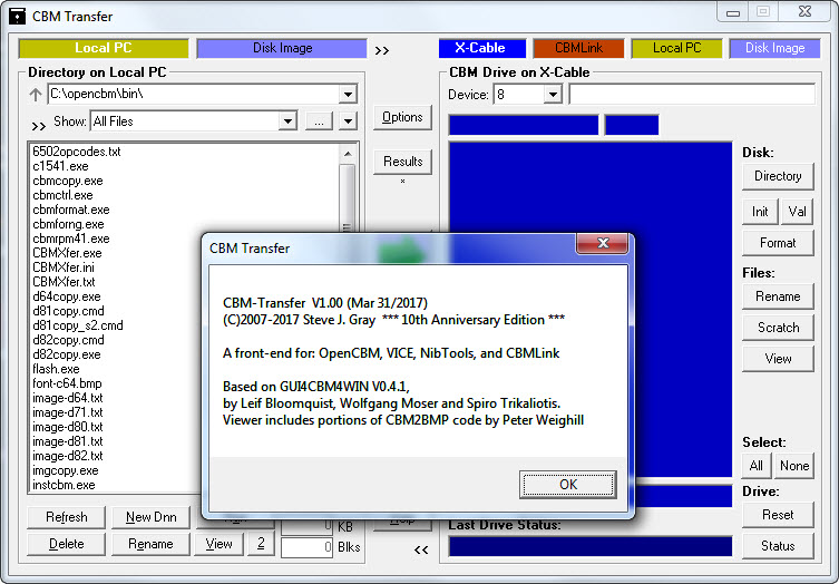 commodore software - CBM Transfer v1 00
