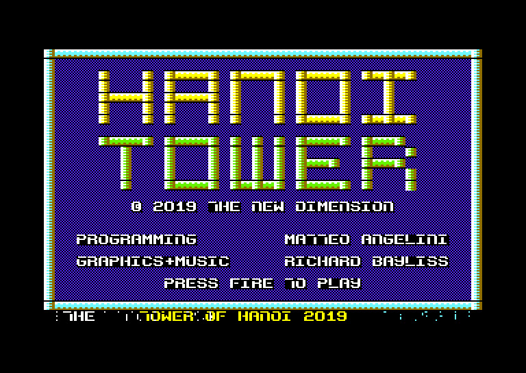 commodore software - Hanoi Tower (PAL)