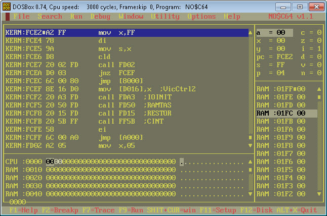 c64 disassembler windows