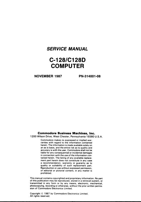 commodore software commodore 128 128d service manual rh commodore software Commodore 64 Computer Commodore Amiga