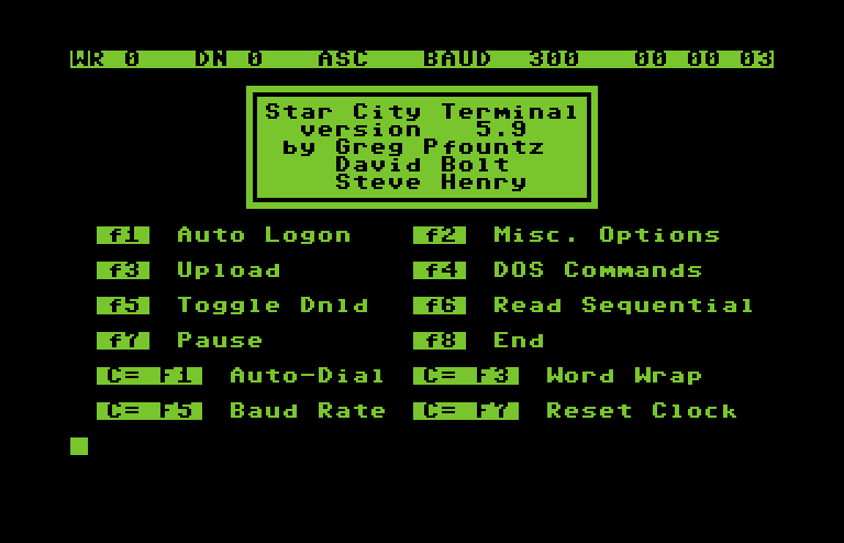 commodore software - Miscellaneous Terminal Programs