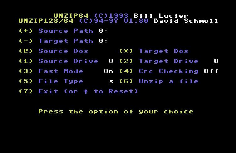 commodore software - UnZip